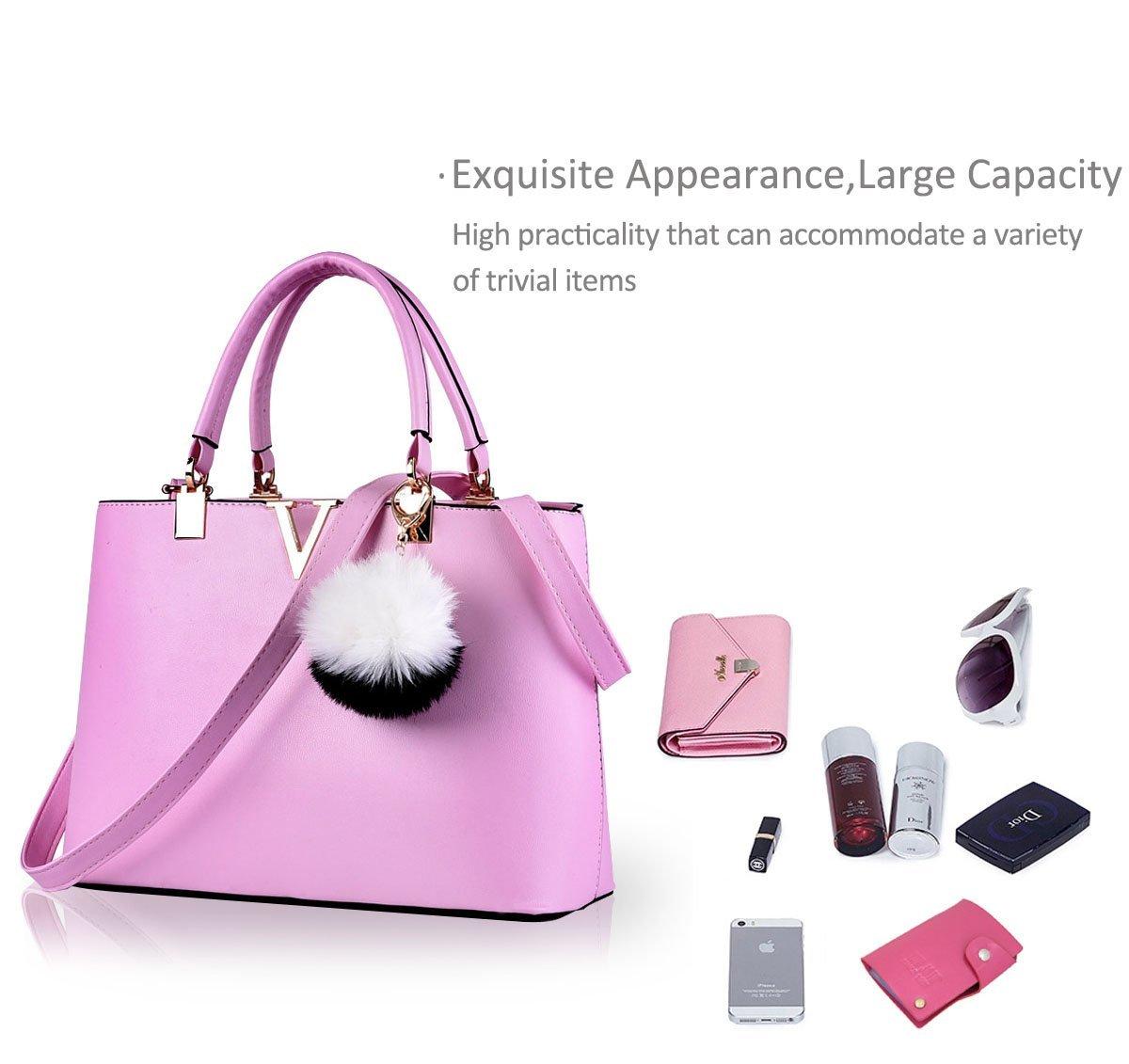 NICOLE & DORIS For Women's Casual Shoulder Cross Body Bags Spring 2017 Spring New Trends Minimal Fashion Handbags (Purple) by NICOLE & DORIS (Image #5)