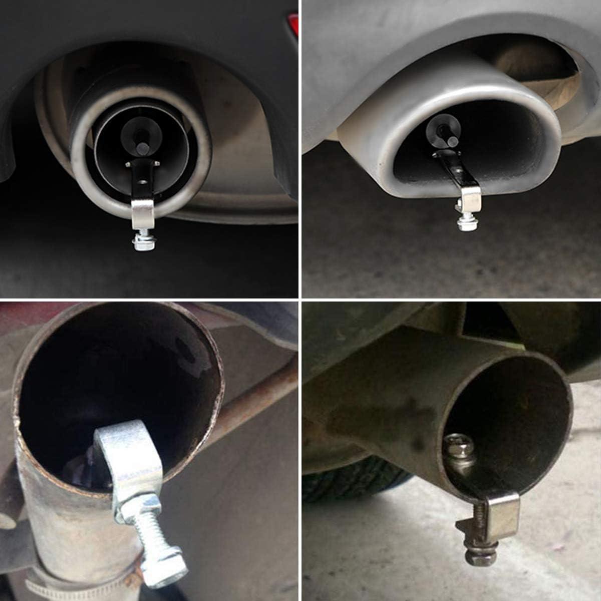AUTOPTIM Universal Aluminum Turbo Sound Whistle Exhaust Muffler Pipe BOV Blow-off Valve Simulator XL-Black