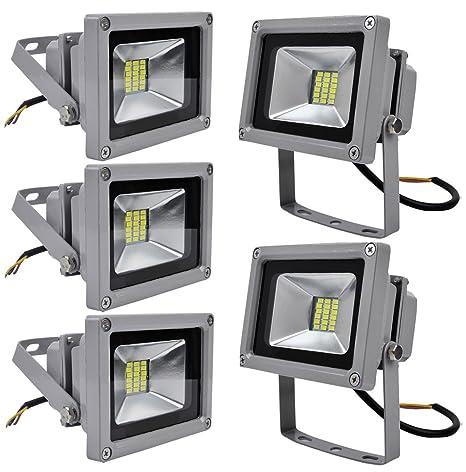 Leetop 5X 20W Luz Blanca Fría SMD Proyector LED Proyector de ...