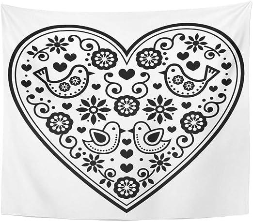 Folk Pájaros Flores Pegatinas de pared para decoración del hogar estilo escandinavo Arte Calcomanía
