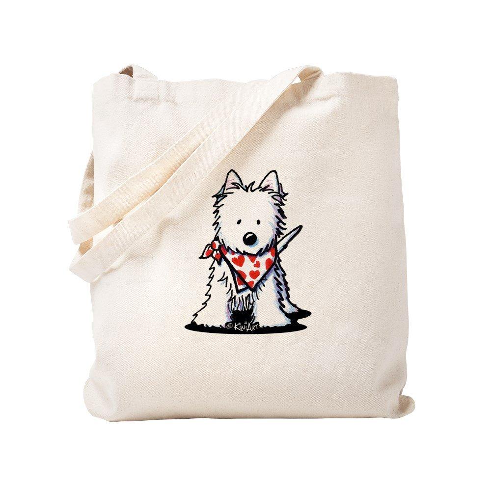 CafePress – ハートスカーフWestie – ナチュラルキャンバストートバッグ、布ショッピングバッグ S ベージュ 0859757074DECC2 B0773RP2WQ S