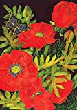 "Toland Home Garden 109380 Popping Poppies 28 X 40"" Decorative USA-Produced House Flag"