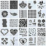Swpeet 25Pcs Mixed Pattern Hollow Out Painting