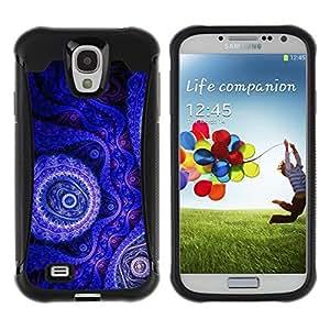 Suave TPU GEL Carcasa Funda Silicona Blando Estuche Caso de protección (para) Samsung Galaxy S4 IV I9500 / CECELL Phone case / / Wallpaper Blue Purple Drawing Art Design /