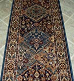 """152907 - Rug Depot Rizzy Bellevue BV3199 Multi Traditional Hall and Stair Runner - 26"""" Wide Hallway Rug Runner - Multi Background - CARPET RUNNER SOLD BY THE FOOT"""