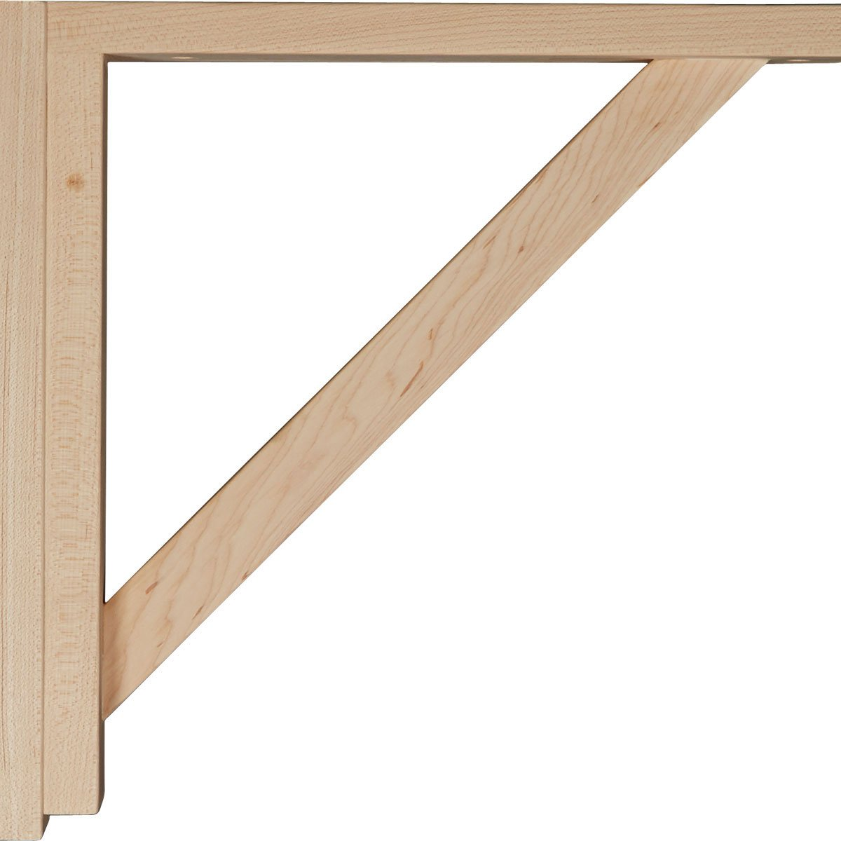 Ekena Millwork BKT02X12X12TRRO  2 1//2-Inch W by 12 3//4-Inch D by 12 1//4-Inch H Traditional Shelf Bracket Red Oak