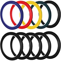 Homgaty 10 Pack 50M Self Adhesive Whiteboard Grid Gridding Marking Tape Non Magnetic Fine 5 Color