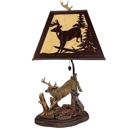 Amazon.com: Borde del Río Deer lámpara de mesa con ...
