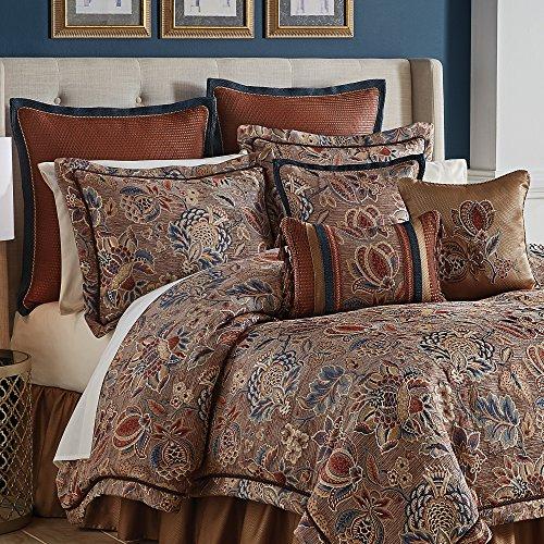 Croscill 4 Piece Brenna Comforter Set, Queen, Multicolor ()