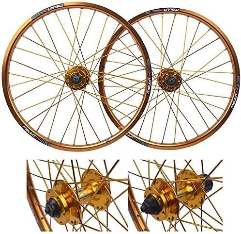 Knoijijuo 20 Pulgadas Bicicleta Rueda Delantera, Frenos en V ...
