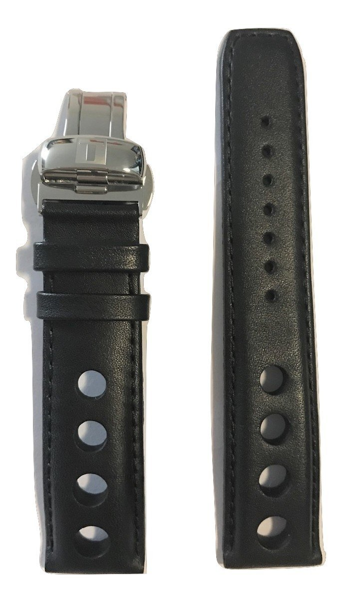 Tissot PRS 516 Black Leather 20mm Band Strap for T100417A, T100428A, T100430A