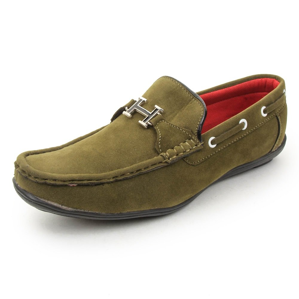 b869b343621 Bacca Bucci Men Olive PU Loafers  Buy Online at Low Prices in India -  Amazon.in