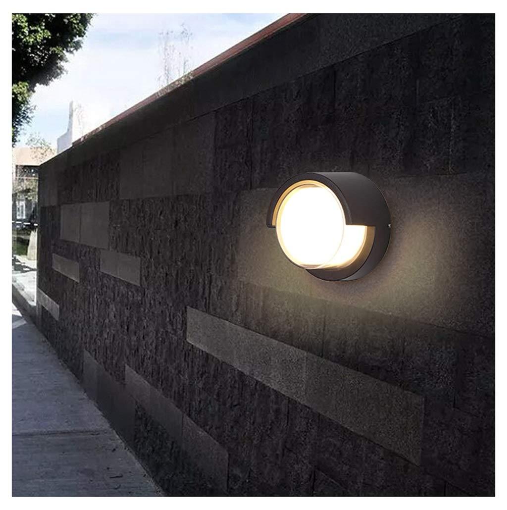 KDJHP 屋外LED防水ウォールランプ中庭外観ガーデン照明モダンテラスバルコニー通路ウォールランプLED [エネルギークラスA + +] -718ブラケットライト (色 : 15W-円形, サイズ さいず : つの暖かい光 5つのあたたかいひかり) B07R8D6V4R 15W-円形 つの暖かい光 5つのあたたかいひかり