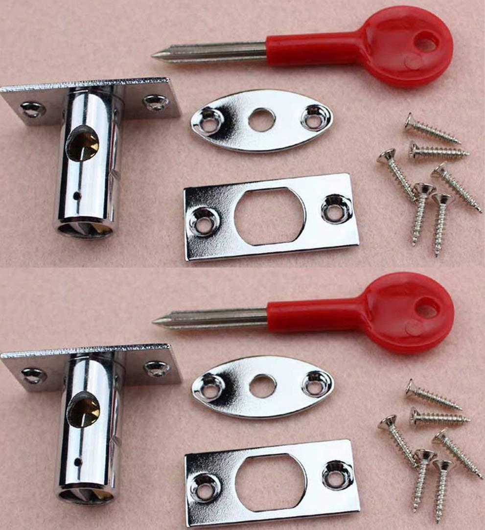 proporciona una protecci/ón mejorada Pernos de seguridad para puerta de lat/ón con llave pulida para el lugar de trabajo oficina hogar