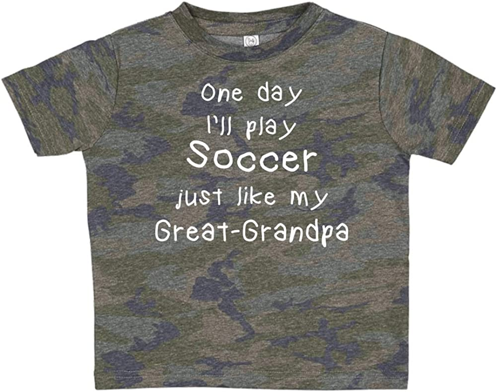 One Day Ill Play Soccer Just Like My Great-Grandpa Toddler//Kids Short Sleeve T-Shirt