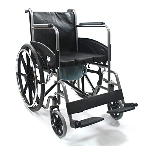 4577357e94e Buy Kosmocare Pride Chrome Plated Commode Wheelchair Online at Low Prices  in India - Amazon.in