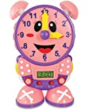 The Learning Journey Telly The Teaching Time Clock Pink - Electronic Analog & Digital Time Telling Aid with Two Quiz…