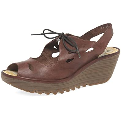 44888fd0292d Fly London Yend Womens Wedge Lace up Sandals  Amazon.co.uk  Shoes   Bags