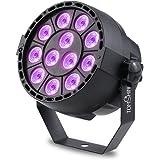 Tomshine Stage Light, 15W 12 LEDs UV Par Light AC110V-220V Support Auto Sound DMX512 Master-slave 8 Channels for Indoor KTV Pub Bar Wedding School Show Xmas Club