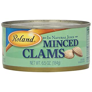 Roland Clams, Minced in Natural Juice, 6.5 Ounce (Pack of 12)