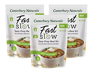Canterbury Naturals Fast or Slow Easy-Prep Meal Kit, White Chicken Chili, 8oz, Pack of 3