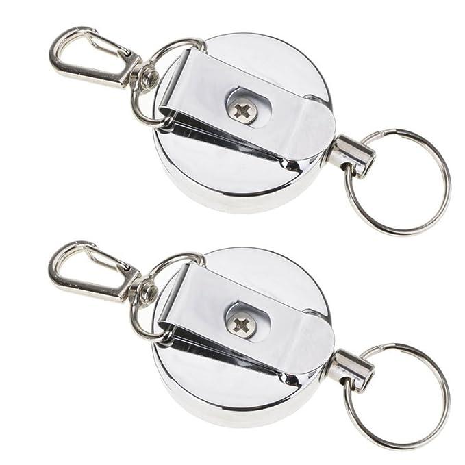 NNNKO Edelstahl Seil Schlüsselanhänger Diebstahl Stretch Keychain ...