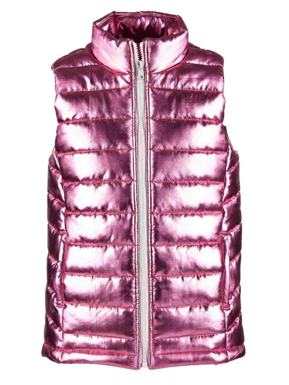 Ideology Toddler Girls Shiny Metallic Pink Puffer Jacket Vest 2T by Ideology