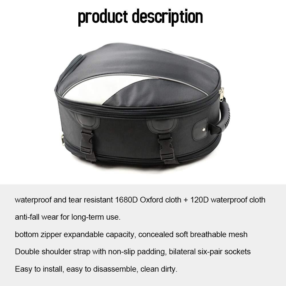 Borsa di Coda di Grande capacit/à Borsa per Casco Sportivo Impermeabile Resistente allUsura Zaino Borsa Sedile Posteriore per Motociclista KKmoon Borsa da Moto