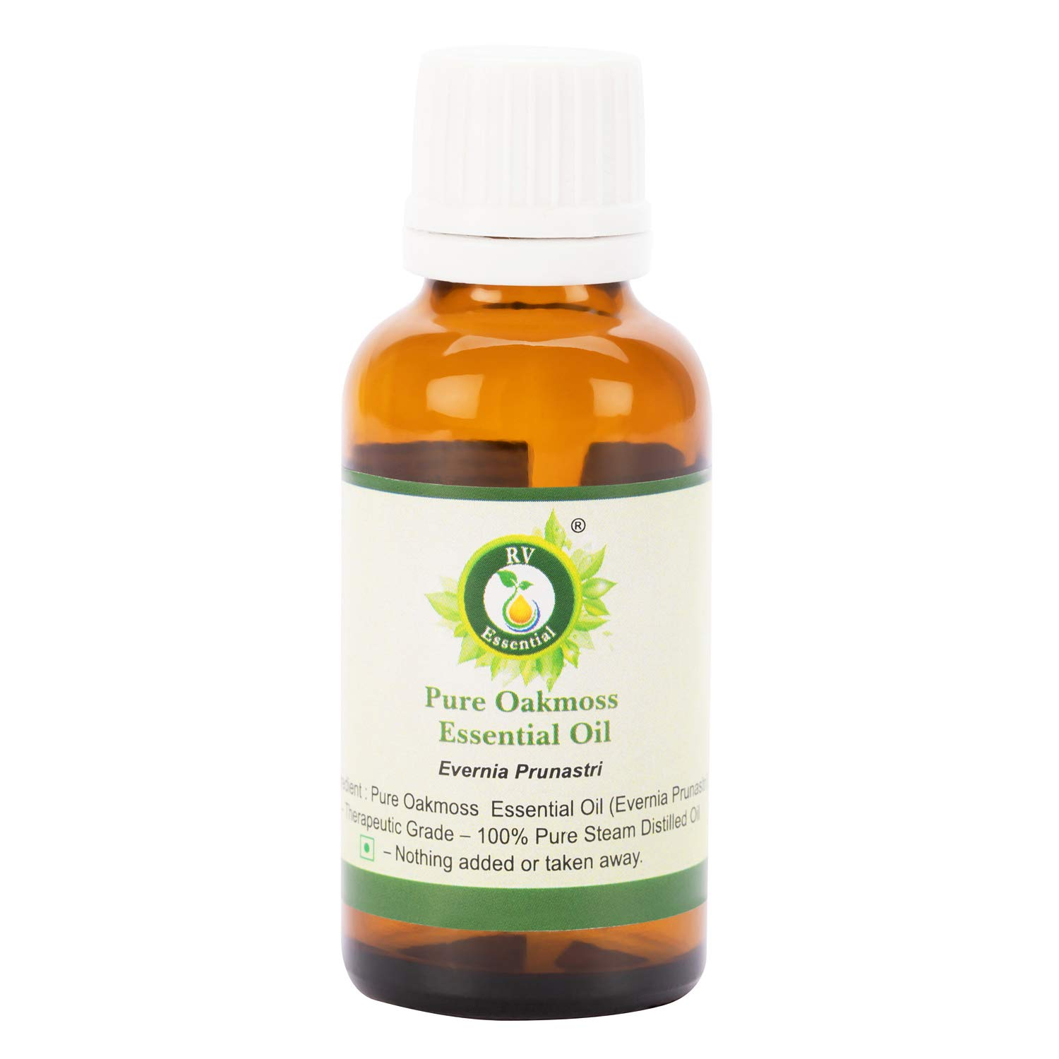 Oakmoss Essential Oil | Evernia Prunastri | 100% Pure Natural | Fine Quality | Undiluted | Steam Distilled | Therapeutic Grade | 15ml | 0.507oz By R V Essential by R V Essential