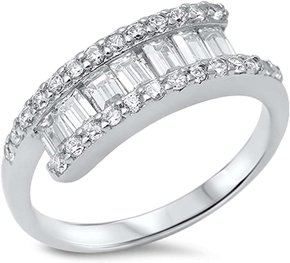 Oxford Diamond Co Sterling Silver Princess Cut Simulated Ruby /& Pave Cubic Zirconia Ring Sizes 5-10