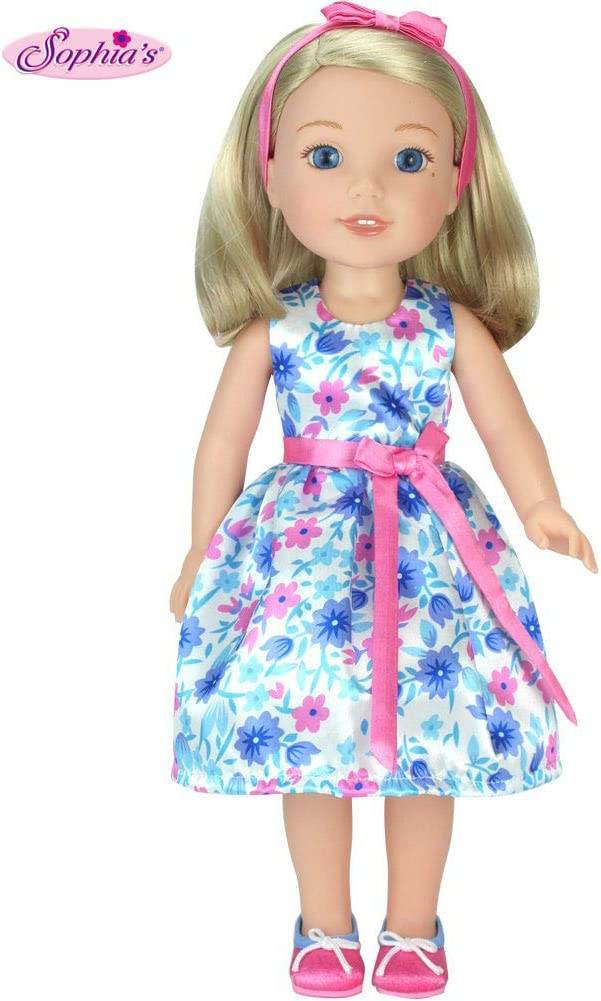 "Wellie Wishers Doll Pink Dress American Girl 14/"" Clothes"