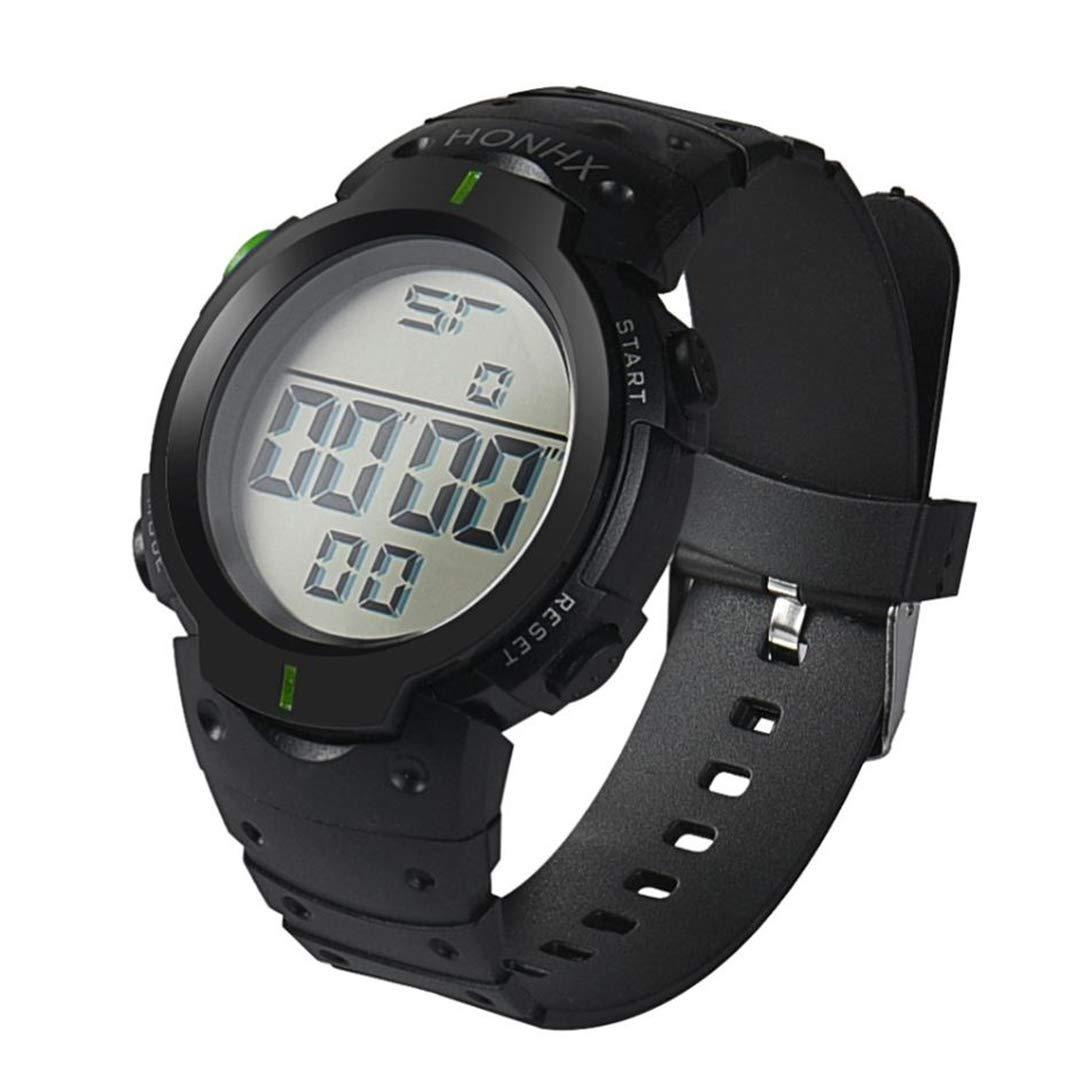 Amazon.com : SheShiLs Men Digital Waterproof Watch LCD Digital Stopwatch Date Rubber Sport Wrist Watch Gift Black : Sports & Outdoors