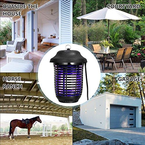 YUNLIGHTS Electric Bug Zapper, 40W Outdoor Mosquito Killer Lantern with Free Hanger, IPX4 Insect Fly Zapper Light for Patio, Gardens, Yards, Pool Area by YUNLIGHTS (Image #6)
