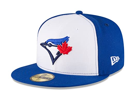 cdb200b19cc New Era 59Fifty Hat Toronto Blue Jays Current Season Alternate White Blue  Fitted Cap (