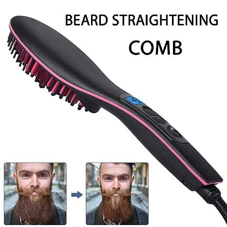 SHUZI - Rizador de pelo eléctrico para hombre con peine para ...
