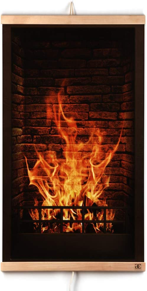 CG Home Calefacción Por Infrarrojos Calefacción de Pared Cuadro de Chimenea - Placa Calefactora de Pared Eléctrica 230V 430W. Eficiencia Energética - Calentamiento Rápido Flexible - Seguro.