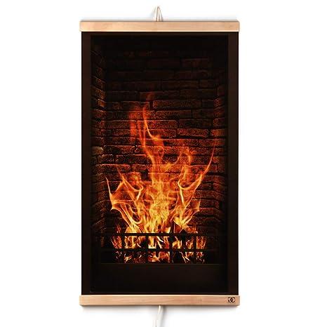 CG Home Calefacción Por Infrarrojos Calefacción de Pared Cuadro de Chimenea - Placa Calefactora de Pared