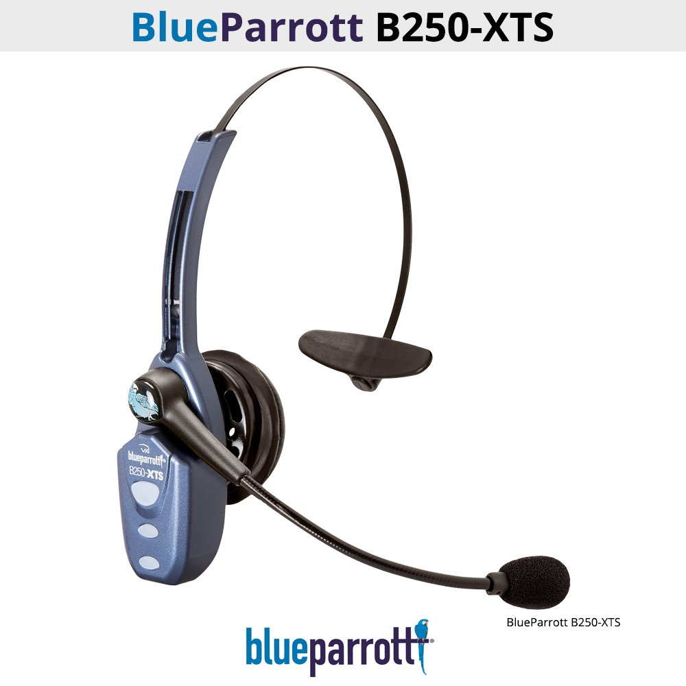 VXi BlueParrott B250-XTS (203100) Bluetooth Headset with Micro USB Charging (Certified Refurbished)