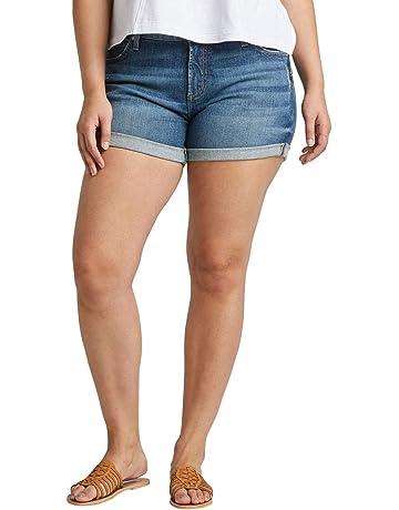 6b7535234f Women's Plus Size Mid-Rise Boyfriend Short