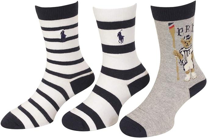 Polo Kids Socks for Boys Quarter High with Polo Player Polo Ralph Lauren B62429BPK 2-12 Years