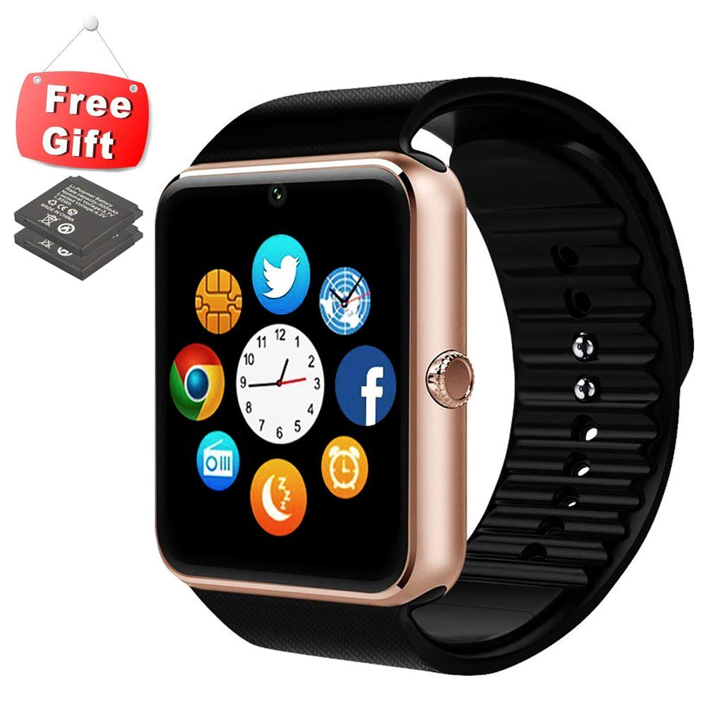 Smart Watch Phone with Sensitive Antenna Sport Fitness Tracker with Bluetooth Camera Music Play Wrist Watch for iPhone Andriod Samsung Smartphones by ANCwear ENKE-smart