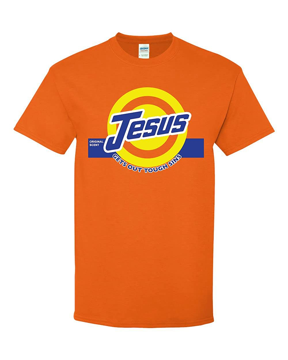 48454237c Faith in Jesus and a little humor as well. Jesus helps us all with our  sins. This design is printed on a Gildan 100% cotton shirt, with seamless  body and ...