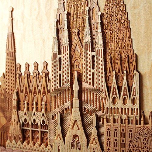 KINOWA Wooden Art Kit Kiharie Sagrada Familia Made in Japan by KINOWA (Image #5)