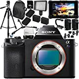 Sony Alpha a7S Mirrorless Digital Camera with Atomos Shogun Flame 7 4K HDMI/SDI Recording Monitor 15PC Accessory Bundle – Includes Deluxe Backpack + MORE