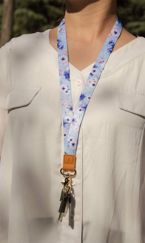 f/ür ID Badge Card Holder Schl/üssel Ausweish/ülle Classic Stripes Mobile Handys Telefon SENLLY Umh/ängeband Schl/üsselband Neck Lanyard strip mit Karabinerhaken und echtem Leder