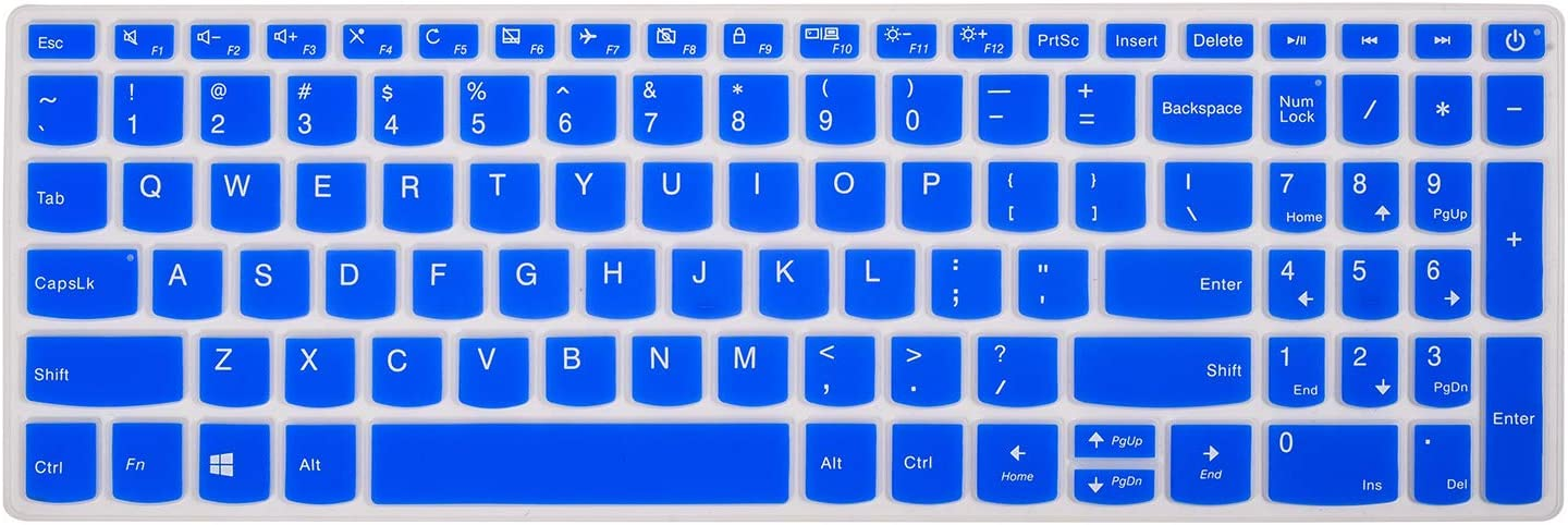 """Keyboard Cover Compatible with Lenovo ideapad 320 330 330s 520 720s,Lenovo AMD Radeon A12-9720P 15.6"""",Lenovo ideapad 320 330 17.3"""" Keyboard Covers(Blue)"""