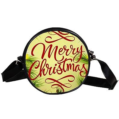 TIZORAX Merry Christmas - Bolso de mano para mujer y niña ...