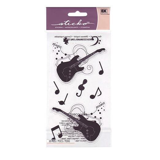 Stickopotamus engomadas de la silueta de la guitarra: Amazon.es: Hogar