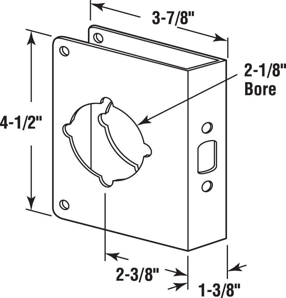 Bronze Solid Brass Prime-Line Products U 10744 Door Guard 1-3//8-Inch Thick by 2-3//8-Inch Backset 2-1//8-Inch Bore