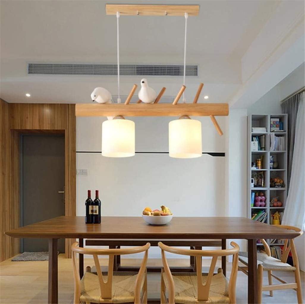Lampe Lustre plafond en bois naturel lustre cr/éatif oiseau personnalit/é pendentif caf/é restaurant de l/étude des lustres de cuisine bar,A